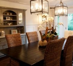 Dinning room - hutch in the back
