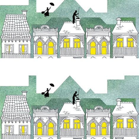 Mary Poppins (border print) fabric by delsie on Spoonflower - custom fabric: Cutemari Poppins, Poppins Fabrics, Mary Poppins, Prints Fabrics, Custom Fabrics, Favorite Fabrics, Spoonflower Fabrics, Poppins Border, Yummy Fabrics