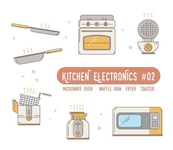 #shutterstock ID:674992801 Kitchen electronics: Outline icons , pictogram and symbol collection - oven, deep fryer, toaster, microwave, waffle maker for website,mobile application,banner,flyer,leaflet,Infographics. #kitchen #electronics #appliances #outline #collection #icons #pictogram #symbol #set #sign #oven #fryer #toaster #microwave #waffle #cook #cooker #deep #domestic #equipment #flat #food #home #house #household #illustration #line #logo #machine #maker #small #HomeAppliancesVector