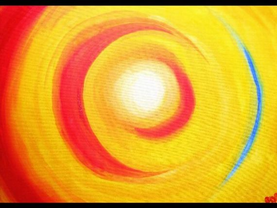 tableau peinture cercle centre chaleur abstrait acrylique croissants chaud tableaux adultes. Black Bedroom Furniture Sets. Home Design Ideas