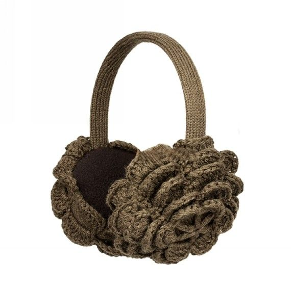 These are fantastic little ear muffs. They have a soft cotton lining that is very comfortable against your ears on chilly days. The flower-type crochet