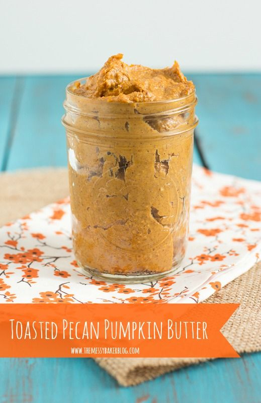 Toasted Pecan Pumpkin Butter. A creamy mixture of toasted pecans, pumpkin puree, maple syrup, and spices. Dunk. Dip. Spread. Delicious!