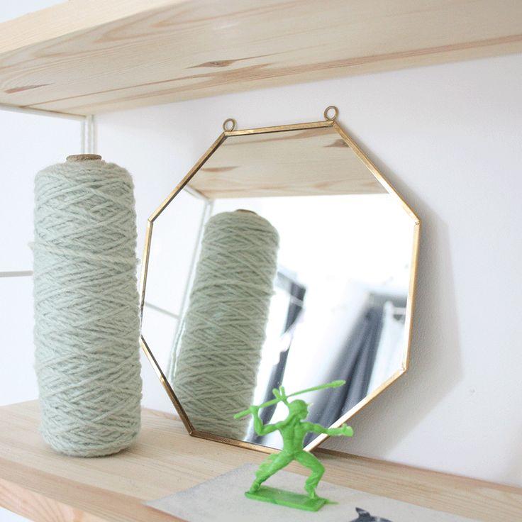 Miroir octogonale en cuivre produits et technologie for Petit miroir rectangulaire