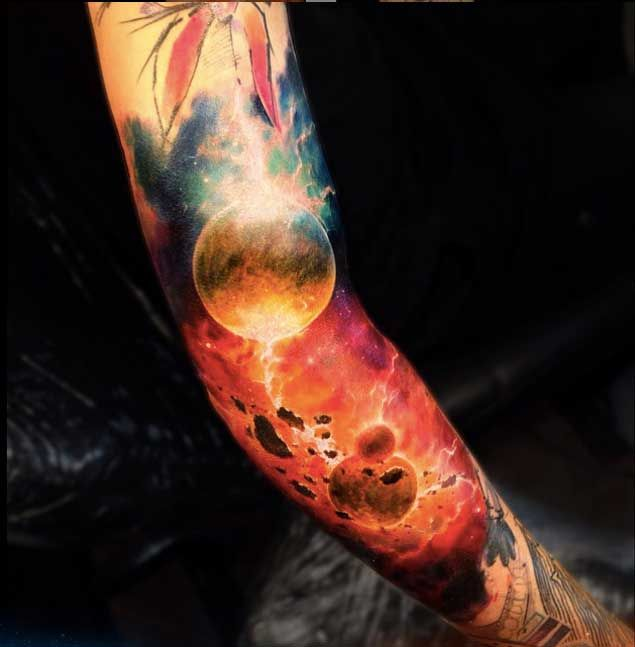 50 Earth Shattering Space Tattoos That Are Literally Out Of This World - TattooBlend