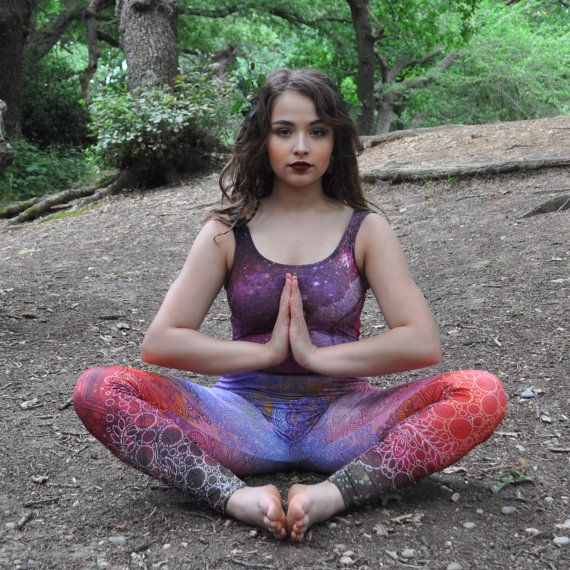Red Mandala Colourful Catsuit Fitness Exercise Workout by Danbine