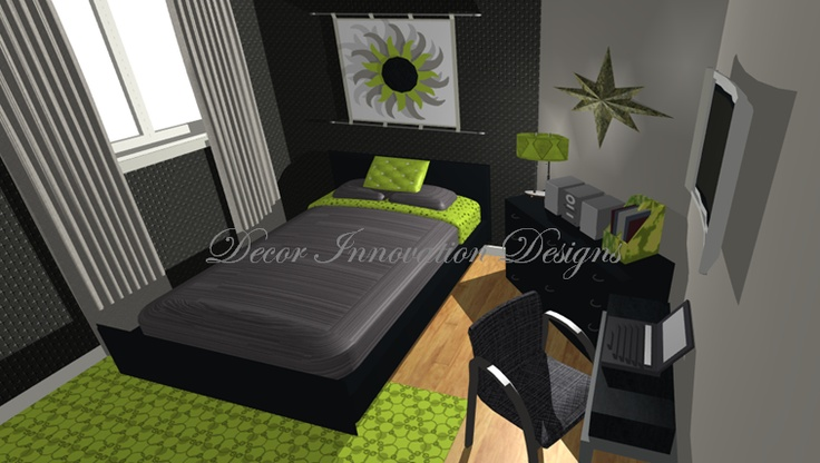 11 Best Images About Lime Green Rooms On Pinterest Wall Paint Patterns Tee