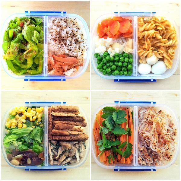 These containers would be great for portion control meal prep.  Anyone know what brand they are?  I'm guessing Sistema...   {via TheWeighWeWere.com }