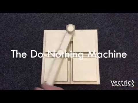 Vectric Video: The Do-Nothing Machine #cnc #vectric #projects #plywood