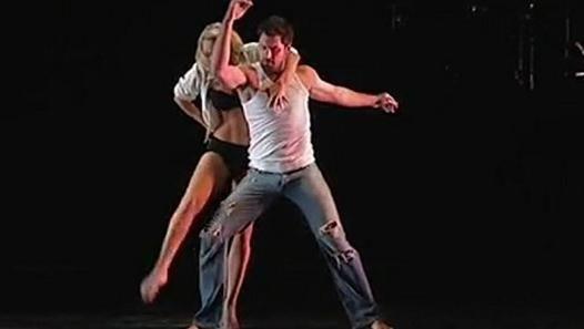 "Kym Johnson & Maksim Chmerkovskiy in Burn the Floor: ""Burn For You""."