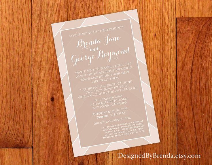 Best 25 chevron wedding invitations ideas on pinterest wedding light brown chevron wedding invitations with shabby chic feel stopboris Gallery