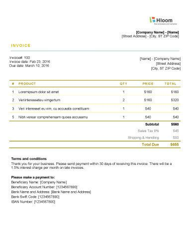 152 best Invoice Templates images on Pinterest Invoice template - invoice template word document
