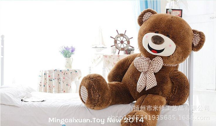 49.00$  Watch here - http://alirwv.worldwells.pw/go.php?t=32376446049 - STuffed toy happy smile bear plush toy bowtie teddy bear doll soft pillow toy birthday gift w9773