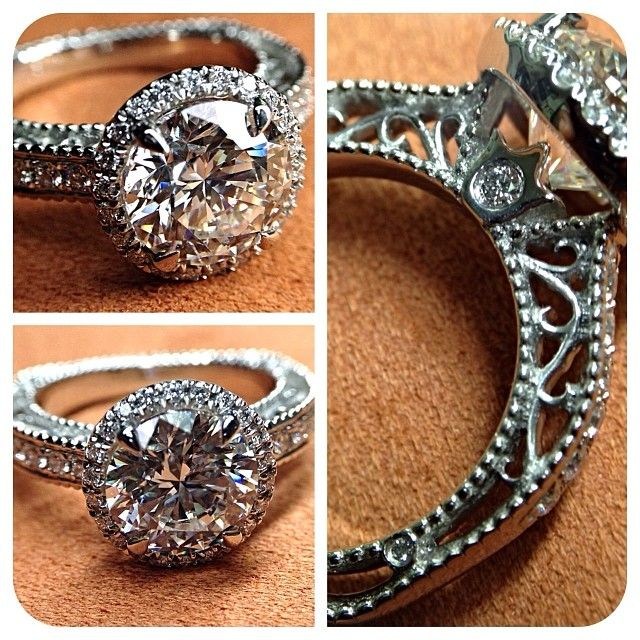 Forged in fire. Crafted by passion. Venetian-5002R for 2 carat diamond. Engagement rings from @Verragio