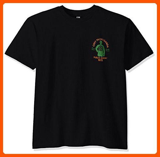 OBEY Men's Public Enemy No 1 Regular Fit T-Shirt, Black, Large - Mens world (*Amazon Partner-Link)