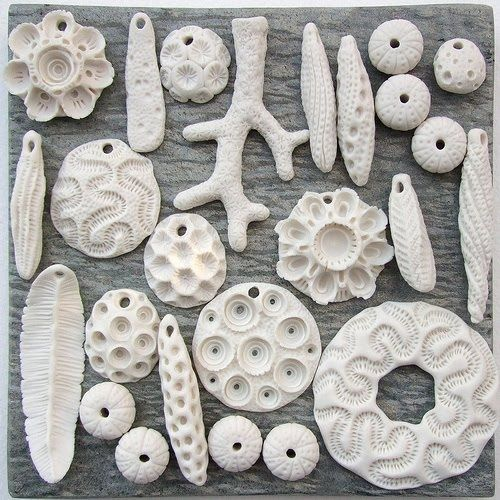 ceramic coral inspired jewelry- this looks like what I make! Now I have some new patterns!