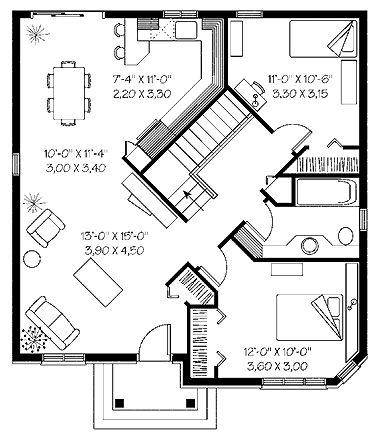 Elegant empty nester hwbdo14139 bungalow interesting for Empty nester floor plans