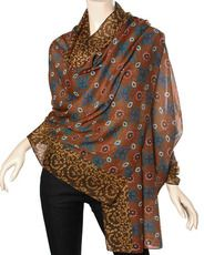 100% Polyester/camel Brown / Polyester Woven Oversized Scarf