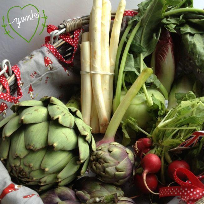 lovely shroomy basket all full of veggie goodness!