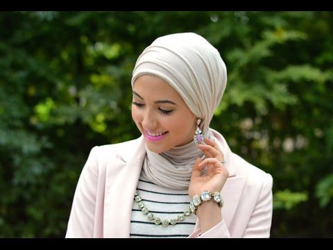Hijab Tutorial + Earrings - YouTube