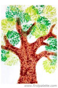 Как рисовать листья и деревья при помощи листьев? Необычное рисование с детьми