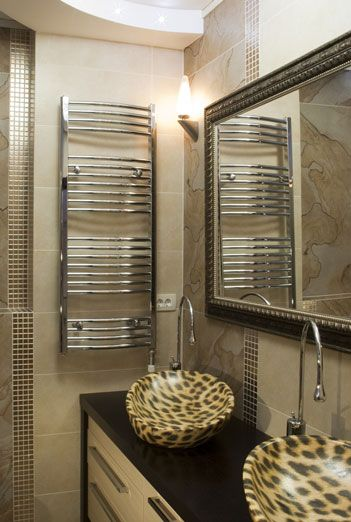 Custom Size Mirror In Brown Gold Frame.