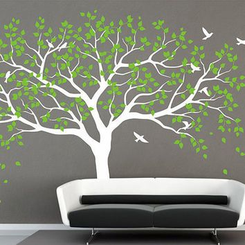 Large tree wall decal Tree Wall Decals Frame Family Photo Tree Wall decal wall sticker art Vinyl Tree Decor Tree Decal Living Room bedroom