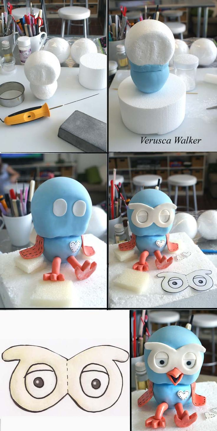 baby bum cake topper tutorial