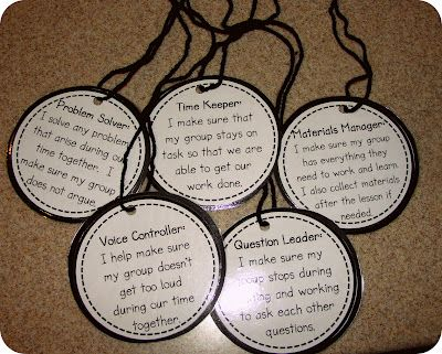 "Great to use for groups!  Assigning ""jobs"" with job descriptions on a necklace (Freebie)!"