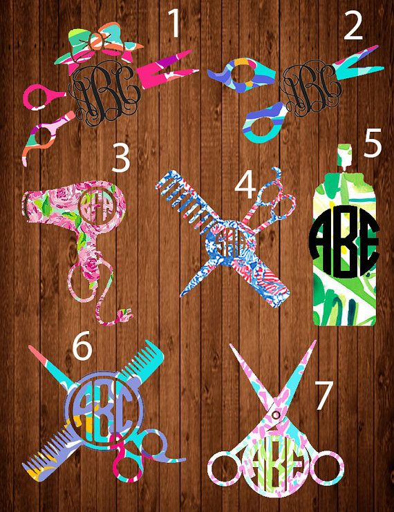 Lilly Pulitzer Hair stylist Monogram Decal Lilly by LCDAZZLE