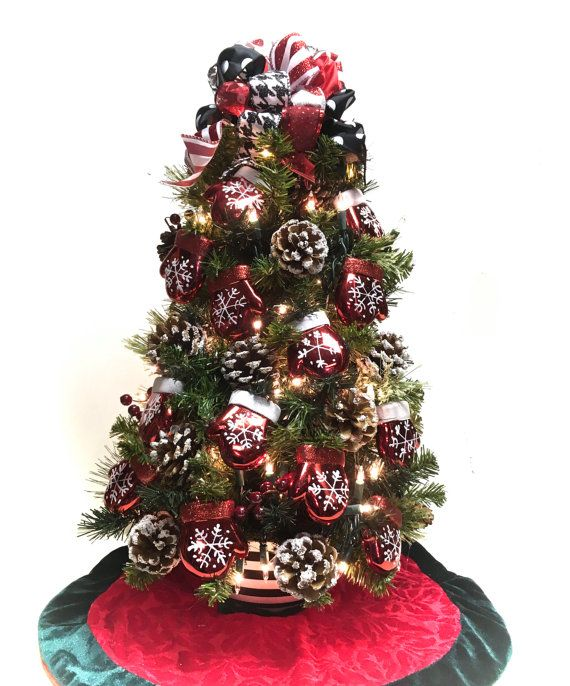 111 Best Christmas Table Top Trees 2 Images On Pinterest