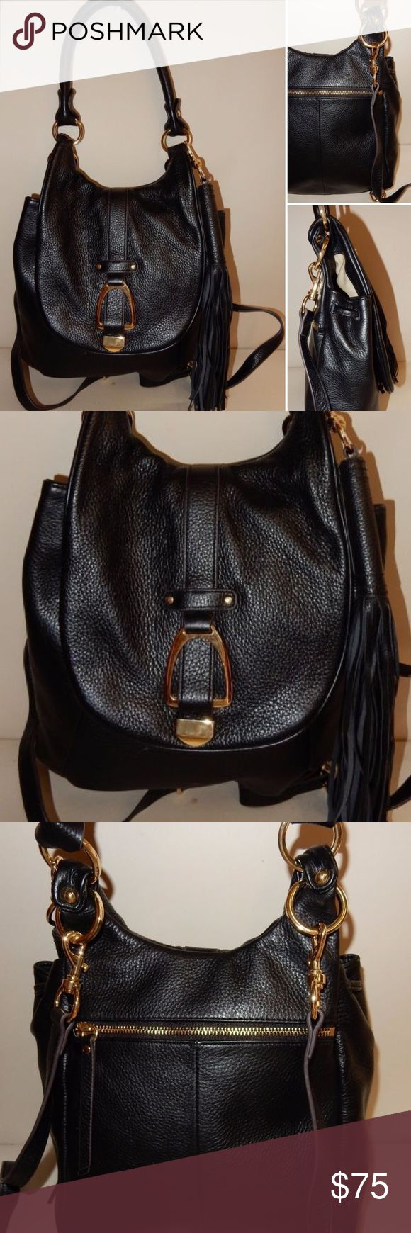 G.I.L.I Leather Convertible Backpack in Black Great condition likes new, no defect. Grainy soft leather. My fav backpack which can be converted to a shoulder bag. Clean and ready to ship! G.I.L.I. Bags Backpacks