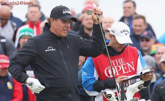 British Open: Phil Mickelson projected to miss cut after rough 2nd round