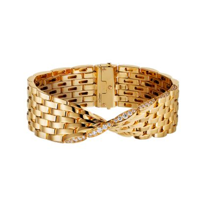 Maillon Panthère bracelet - Yellow gold, diamonds - Fine Bracelets for women - Cartier
