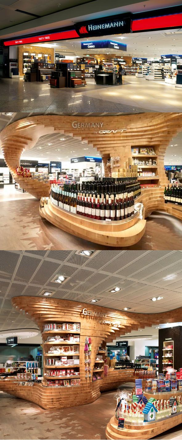 Heinemann Duty Free shop, by Graft, Frankfurt - Germany.