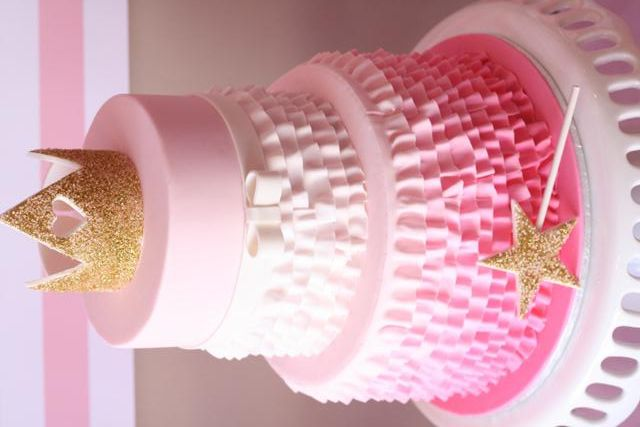 Look at this pink ruffle princess cake via Kara's Party Ideas!