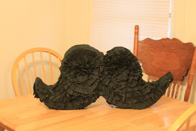 Finished Mustache pinata