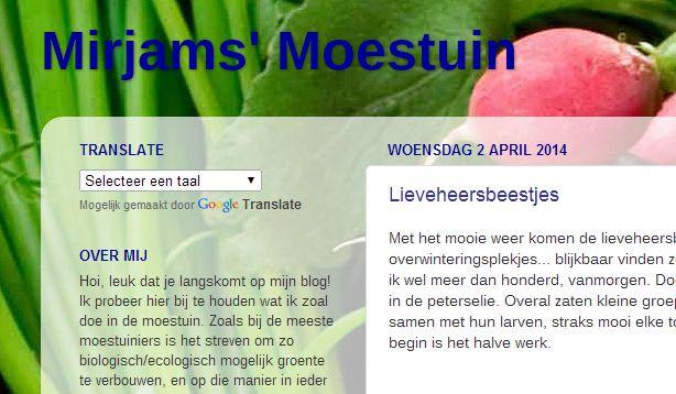 mirjam's moestuin tuinblog Dit én meer op: http://deboon.blgospot.nl