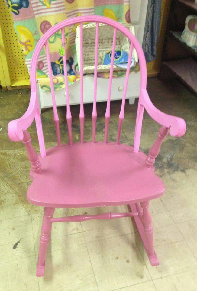 So sweet painted child's rocking chair