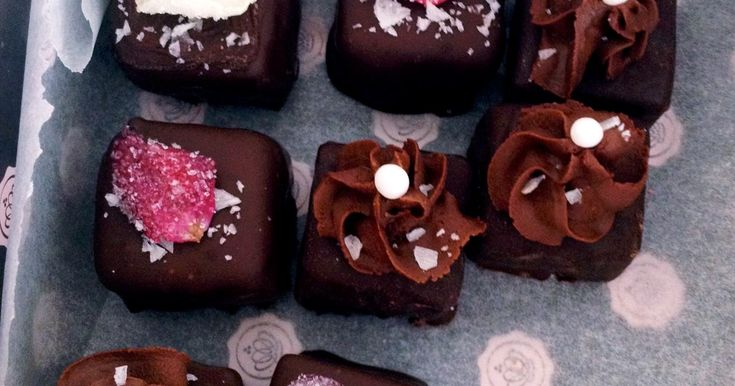 fudge praliner med choklad