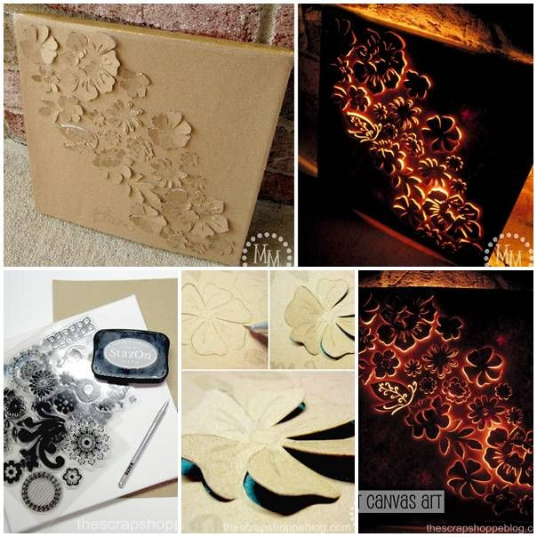 This beautiful art project is a twofer, you get a three dimensional art project during the day, and a beautifully back lit silhouette by night...