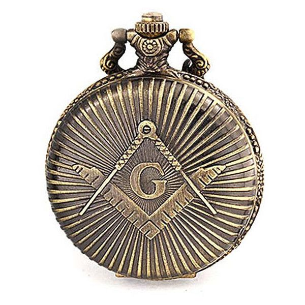 Antique Style Large Freemason Symbol Quartz Mens Pocket Watch ($16) ❤ liked on Polyvore featuring men's fashion, men's jewelry, men's watches, mens jewelry, mens watches jewelry, mens white watches, mens pocket watches and antique mens watches