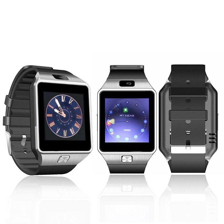 Kartu sim smartwatch smart watch dz09 dengan kamera bluetooth jam tangan untuk ios android dukungan multi bahasa