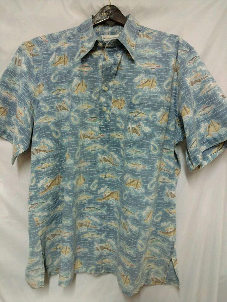 Reyn spooner vintage xxl shirt hawaii euc hawaiian fish for Fish hawaiian shirt