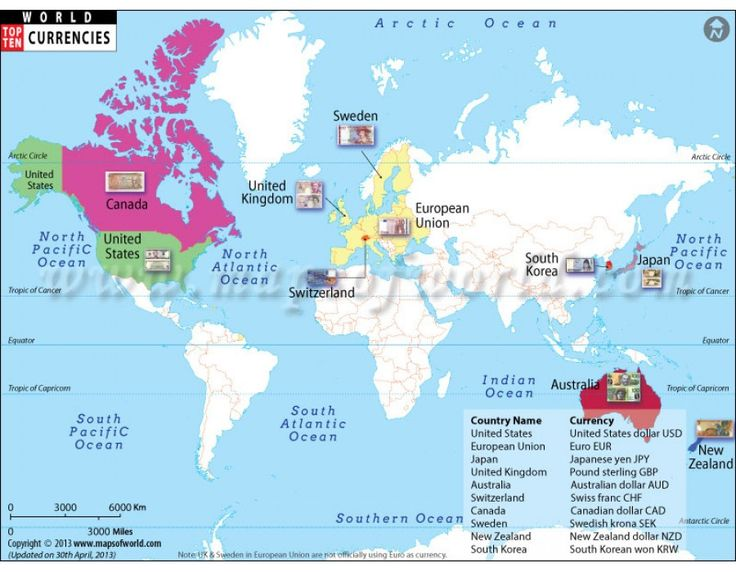 buy world map of top ten richest countries with currency