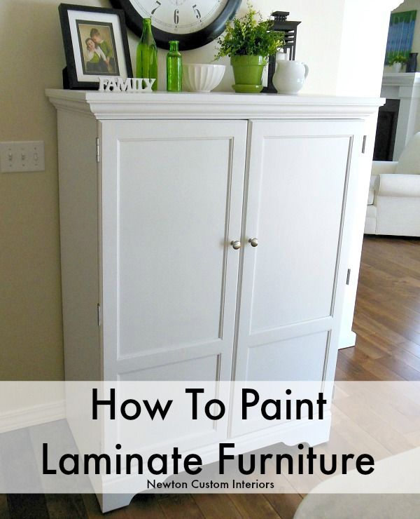 How To Paint Laminate Furniture from NewtonCustomInteriors.com