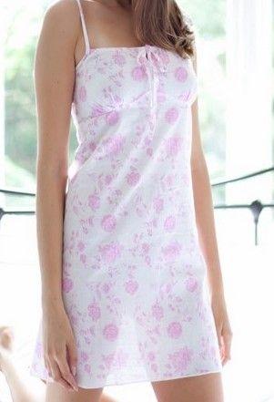 Du rose pour cette nuisette en coton, fines bretelles. www.cetaellecetalui.com #rose# #nuisette_coton# #cotton#