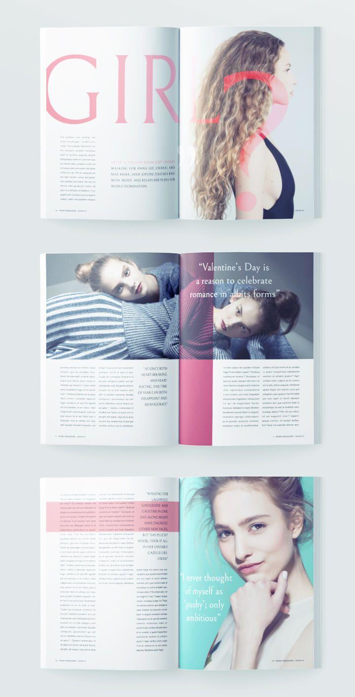 Beautiful Fashion Magazine Template For Indesign Free Download Magazine Layout Inspiration Magazine Photography Fashion Editorial Layout
