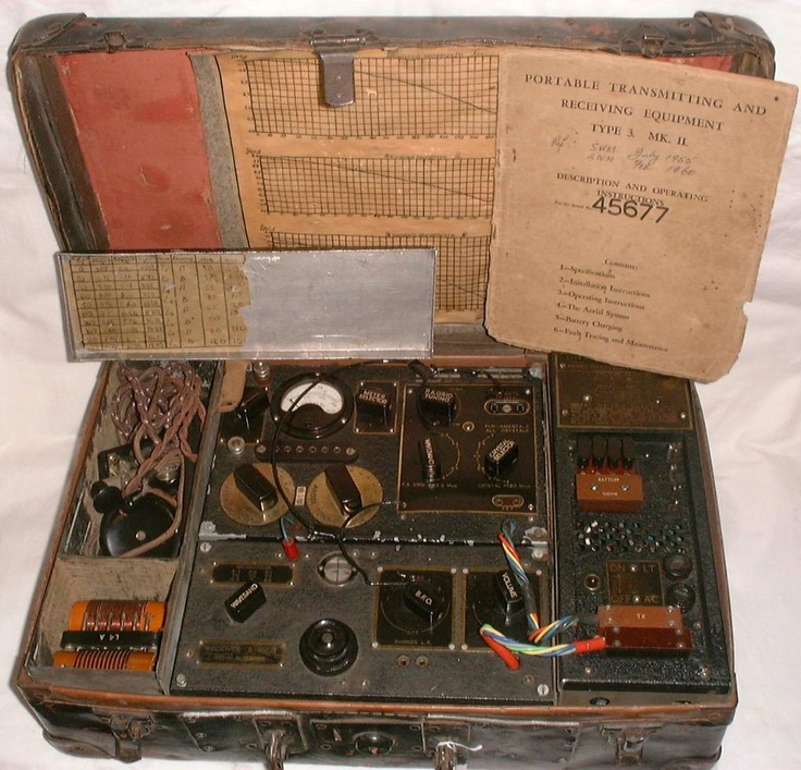 The World S Best Photos Of Guns And Spy: Details About B2 SUITCASE SPY RADIO JEDBURGH SOE S.O.E