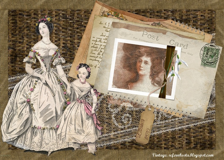 VINTAGE: Collages mujeres victorianas 1