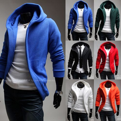 new styles Men's Fashion unique large cap design cardigan hoodie coat